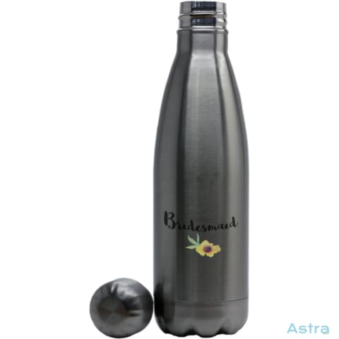 Bridesmaid Coke Bottle Shaped Water Bottle Stainless Silver Drinkware Drinkware Predrink Premade Stainless Stainless-Steel $24.95