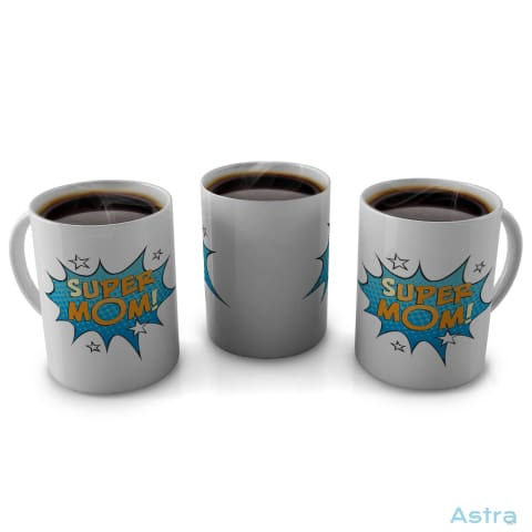 Comic Super Mom 11Oz Coffee Mug Drinkware Birthday Blue Ceramic Comic Drinkware $9.99 Astraest.com: Astraest
