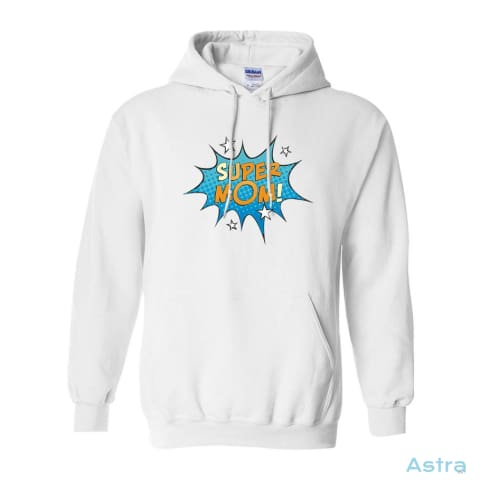 Comic Super Mom Heavy Blend Hooded Sweatshirt Apparel 30-40 Antique-Sapphire Apparel Birthday Clothing $34.95 Astraest.com: Astraest