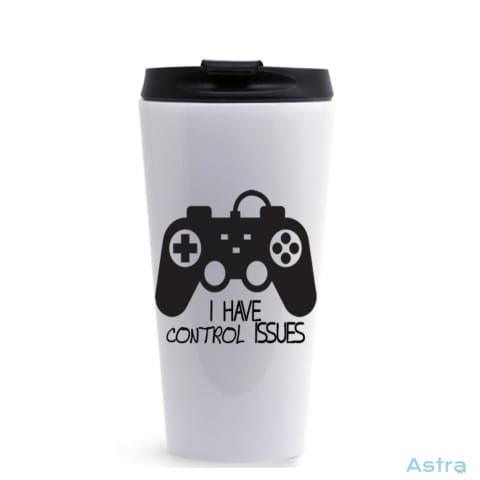 Control Issues 16Oz Stainless Steel Tumbler White Drinkware Drinkware Fathers-Day Gaming Predrink Premade $17.99 Astraest.com: Astraest