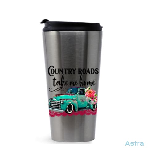 Country Roads 16Oz Stainless Steel Tumbler Stainless Silver Drinkware 10-20 Drinkware Mothers-Day Predrink Premade $17.99 Astraest.com: