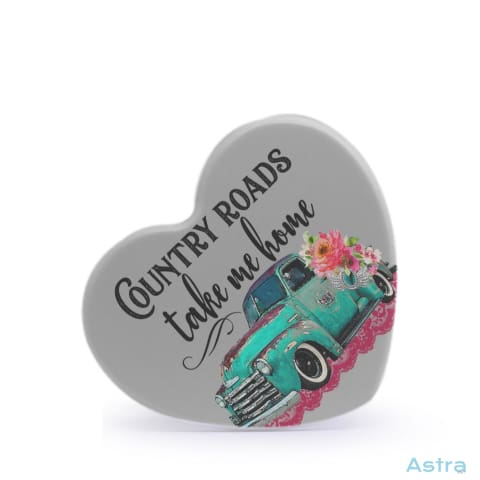 Country Roads Heart Shaped Plastic Fridge Magnet Home Decor Homedecor Household-1 Magnet Magnets Mothers-Day $12.95 Astraest.com: Astraest