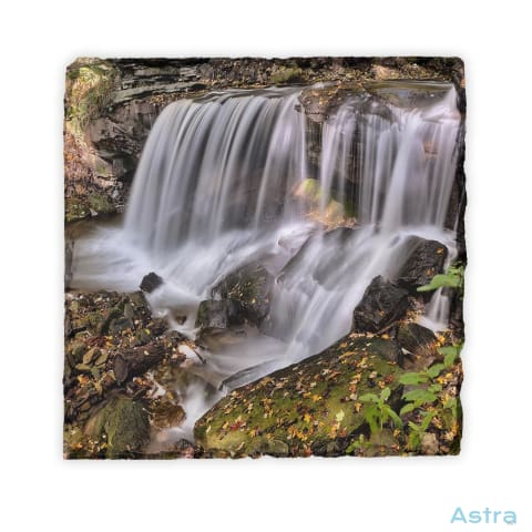Creek Falls Square Photo Slate Home Decor 10-20 Fathers-Day Homedecor Household-1 Mothers-Day $18.99 Astraest.com: Astraest