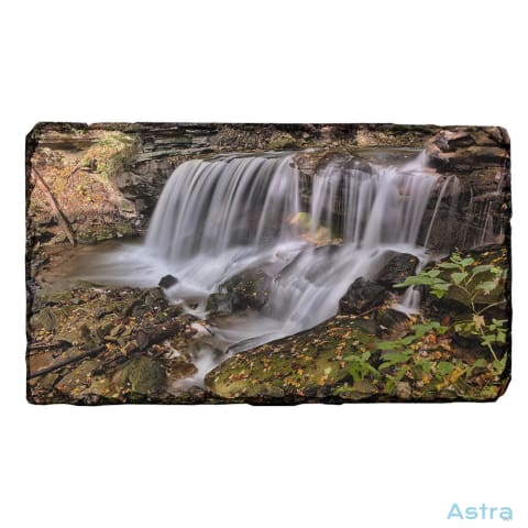 Creek Waterfall Rectangle Photo Slate Home Decor 10-20 Fathers-Day Homedecor Household-1 Mothers-Day $14.99 Astraest.com: Astraest
