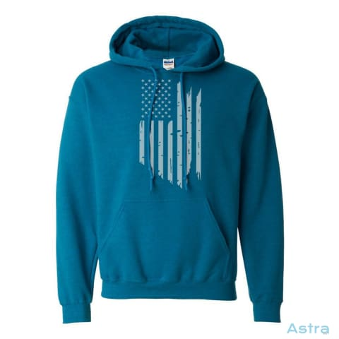 Distressed Flag Heavy Blend Hooded Sweatshirt Apparel Antique-Sapphire Apparel Clothing Dark-Heather Fathers-Day $34.95 Astraest.com: