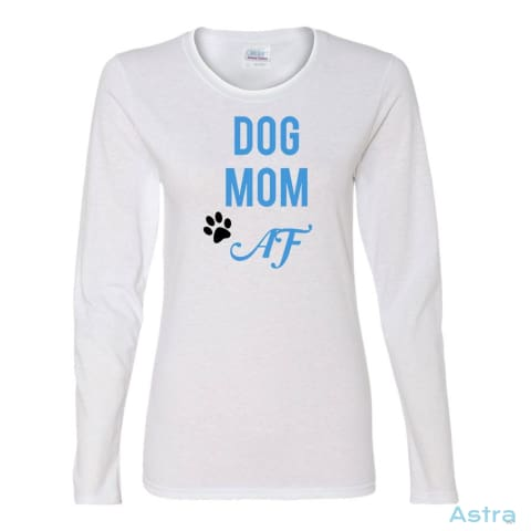 Dog Mom Af Heavy Cotton Womens Long Sleeve T-Shirt Apparel Animal-Lovers Apparel Birthday Black Clothing $23.95 Astraest.com: Astraest