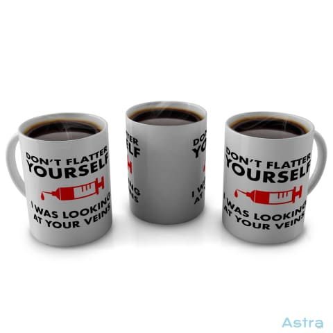 Dont Flatter Yourself 11Oz Coffee Mug Drinkware 10-20 Blue Ceramic Drinkware Feature $14.99 Astraest.com: Astraest