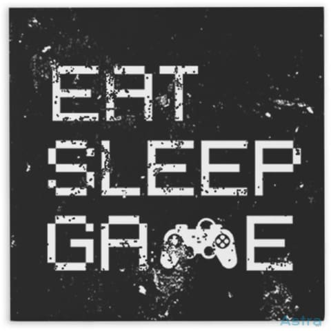 Eat Sleep Game Hardboard Magnet Home Decor 10-20 Fathers-Day Gaming Homedecor Household-1 $14.99 Astraest.com: Astraest