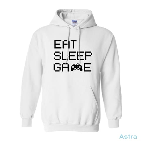 Eat Sleep Game Heavy Blend Hooded Sweatshirt Apparel Antique-Sapphire Apparel Clothing Dark-Heather Heliconia $34.95 Astraest.com: Astraest