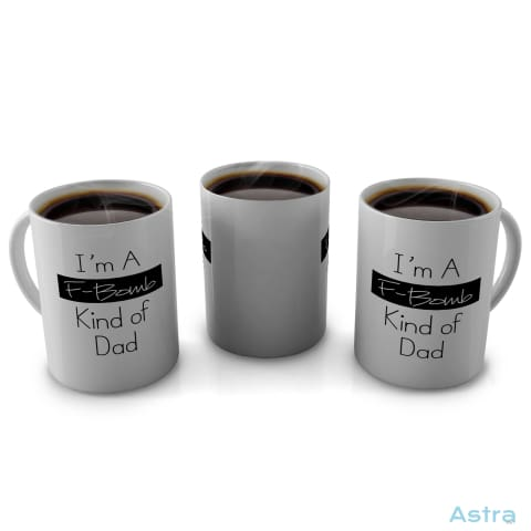 F Bomb Dad 11Oz Coffee Mug Drinkware Birthday Blue Ceramic Drinkware Father $14.99 Astraest.com: Astraest