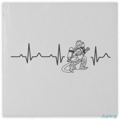Fireman Heart Beat Hardboard Magnet Home Decor Father Fathers-Day Homedecor Household-1 Magnet $4.99 Astraest.com: Astraest