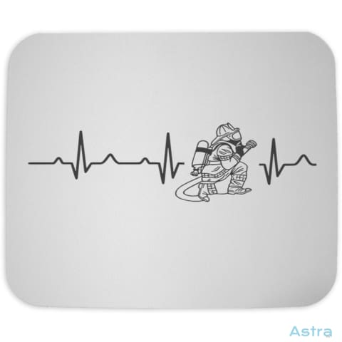 Fireman Heart Beat Mouse Pad Home Decor 10-20 Cloth Father Fathers-Day Homedecor $10.95 Astraest.com: Astraest