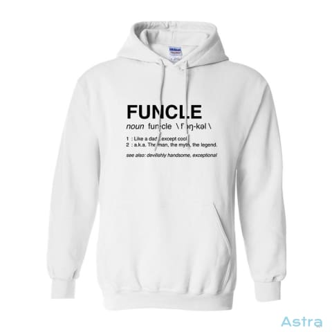 Funcle Heavy Blend Hooded Sweatshirt Apparel 30-40 Antique-Sapphire Apparel Autumn Clothing $34.95 Astraest.com: Astraest