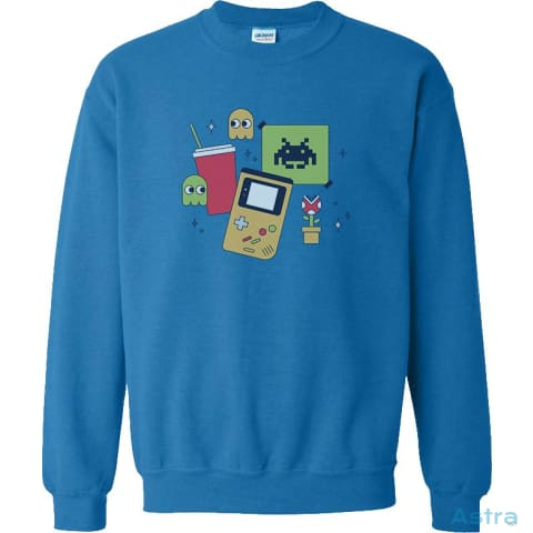 #gamerlife Heavy Blend Cotton Crewneck Sweatshirt Apparel 20-30 Antique-Sapphire Apparel Black Clothing $24.99 Astraest.com: Astraest