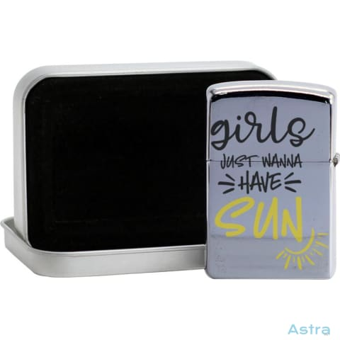 Girls And Sun Flip Lighter Silver Home Decor 10-20 Flip-Lighter Homedecor Household-1 Lighter $19.95 Astraest.com: Astraest