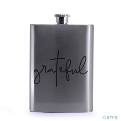 Grateful 8Oz Stainless Steel Hip Flask Drinkware 20-30 Birthday Drinkware Flask Predrink $24.99 Astraest.com: Astraest