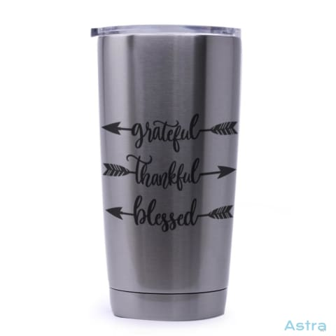 Grateful Thankful Blessed 20Oz Stainless Steel Tumbler Drinkware 20-30 Autumn Birthday Drinkware Predrink $29.99 Astraest.com: Astraest