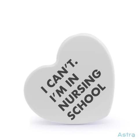 I Cant Im In Nursing School Heart Shaped Plastic Fridge Magnet Home Decor Homedecor Household-1 Magnet Magnets Nurse $12.95 Astraest.com: