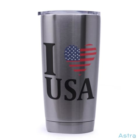 I Heart Usa 20Oz Stainless Steel Tumbler Drinkware Drinkware Forth Independence-Day Memday Memorial-Day $24.99 Astraest.com: Astraest