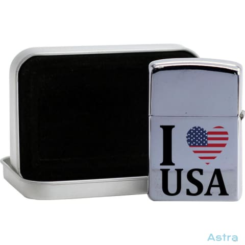 I Heart Usa Flip Lighter Silver Home Decor Flip-Lighter Forth Homedecor Household-1 Independence-Day $19.95 Astraest.com: Astraest