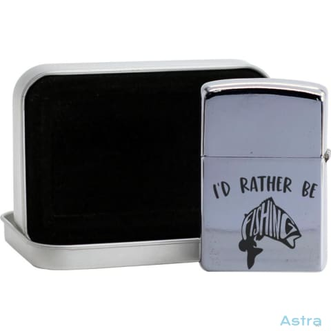 Id Rather Be Fishing Flip Lighter Silver Home Decor 10-20 Fathers-Day Flip-Lighter Funny Homedecor $19.95 Astraest.com: Astraest