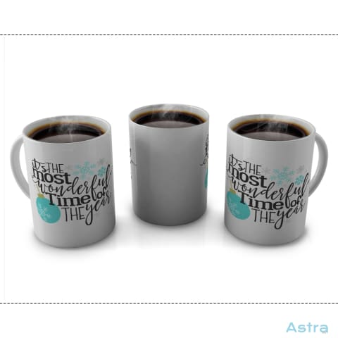 Its The Most Wonderful Time 11Oz Coffee Mug Drinkware Blue Ceramic Holiday Mug Mugs $9.99 Astraest.com: Astraest