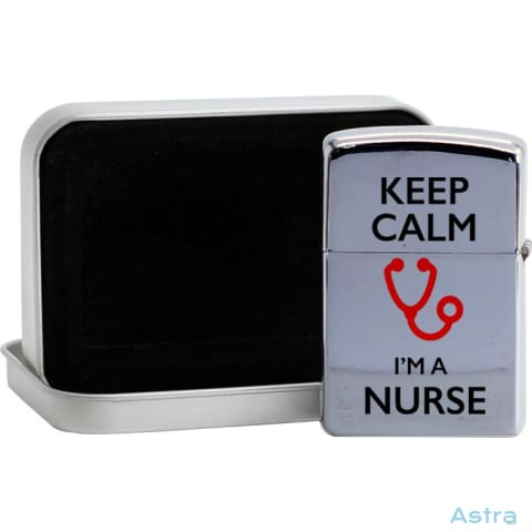 Keep Calm Im A Nurse Flip Lighter Silver Home Decor 10-20 Flip-Lighter Homedecor Household-1 Lighter $19.95 Astraest.com: Astraest