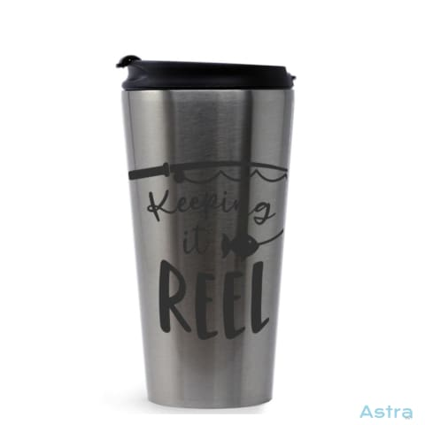 Keeping It Reel 16Oz Stainless Steel Tumbler Stainless Silver Drinkware 10-20 Drinkware Fathers-Day Predrink Premade $17.99 Astraest.com: