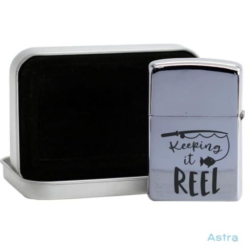Keeping It Reel Flip Lighter Silver Home Decor 10-20 Fathers-Day Flip-Lighter Homedecor Household-1 $19.95 Astraest.com: Astraest