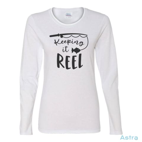 Keeping It Reel Heavy Cotton Womens Long Sleeve T-Shirt Apparel 20-30 Apparel Black Clothing Fathers-Day $23.95 Astraest.com: Astraest