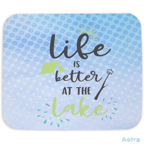 Life At The Lake Mouse Pad Home Decor 10-20 Cloth Fathers-Day Homedecor Household $14.99 Astraest.com: Astraest