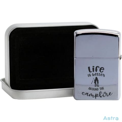 Life Is Better With Campfire Flip Lighter Silver Home Decor 10-20 Fathers-Day Flip-Lighter Homedecor Household-1 $19.95 Astraest.com: