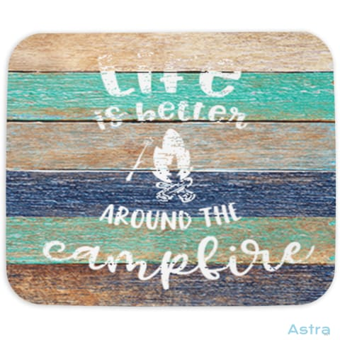Life Is Better With Campfire Mouse Pad Home Decor 10-20 Cloth Fathers-Day Homedecor Household $14.99 Astraest.com: Astraest