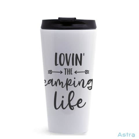 Love The Camping Life 16Oz Stainless Steel Tumbler White Drinkware Drinkware Mothers-Day Predrink Premade Sayings $22.99 Astraest.com: