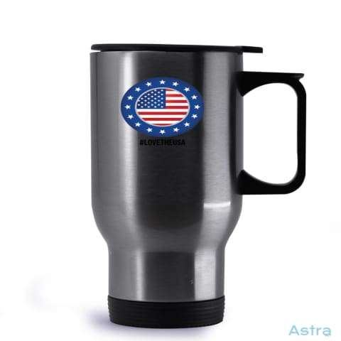 #lovetheusa 14Oz Stainless Steel Travel Mug Drinkware Drinkware Forth Independence-Day Memday Memorial-Day $19.99 Astraest.com: Astraest