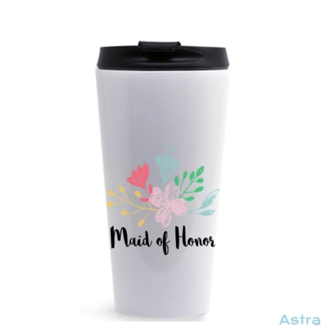Maid Of Honor 16Oz Stainless Steel Tumbler White Drinkware Drinkware Predrink Premade Stainless Stainless-Steel $17.99 Astraest.com: