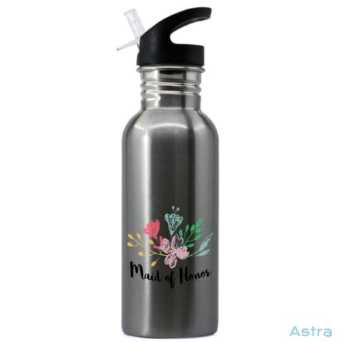 Maid Of Honor 20Oz Stainless Steel Water Bottle Stainless Drinkware Water-Bottles Waterbottle Wedding Wedding-Favors $16.99 Astraest.com:
