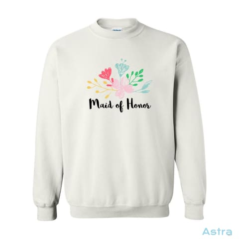 Maid Of Honor Heavy Blend Cotton Crew-Neck Sweatshirt Apparel 10-20 Antique-Sapphire Apparel Black Clothing $19.99 Astraest.com: Astraest