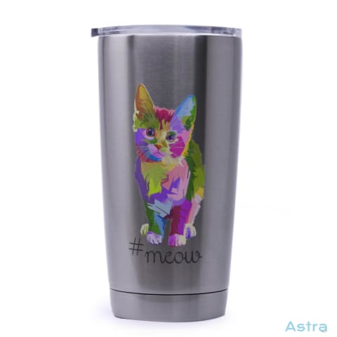 #meow 20Oz Stainless Steel Tumbler Drinkware Animal-Lovers Comic Drinkware Funny Mothers-Day $24.99 Astraest.com: Astraest