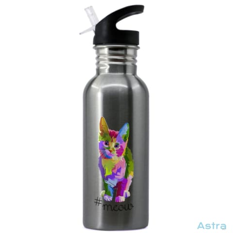 #meow 20Oz Stainless Steel Water Bottle Stainless Drinkware Animal-Lovers Comic Drinkware Funny Mothers-Day $16.99 Astraest.com: Astraest