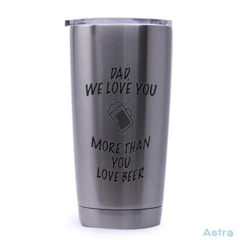 More Than Beer 20Oz Stainless Steel Tumbler Drinkware Comic Drinkware Father Fathers-Day Funny $29.99 Astraest.com: Astraest