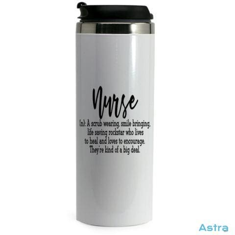 Nurse Definition 14Oz Stainless Steel Bottle White Drinkware 10-20 Drinkware Mothers-Day Nurse Nursing $17.99 Astraest.com: Astraest