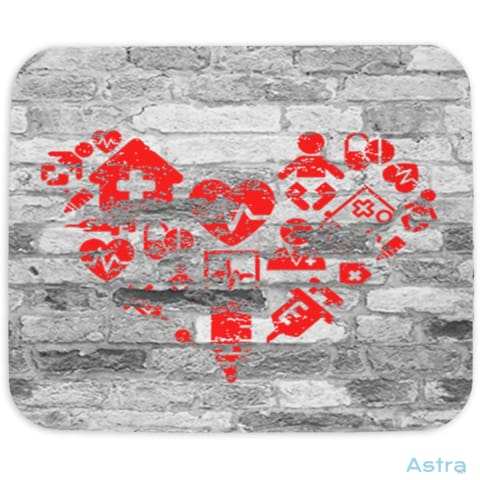 Nursing Heart Icons Mouse Pad Home Decor 10-20 Cloth Feature Featured-Products Homedecor $14.99 Astraest.com: Astraest