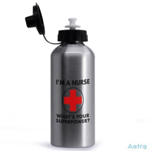Nursing Superpower 20Oz Aluminum Water Bottle Silver Drinkware 10-20 Aluminum Drinkware Feature Featured-Products $14.99 Astraest.com: