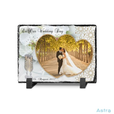 On Our Wedding Day Rectangle Photo Slate