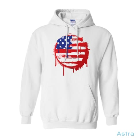 Painted Flag Heavy Blend Hooded Sweatshirt Apparel Antique-Sapphire Apparel Clothing Dark-Heather Heliconia $34.95 Astraest.com: Astraest