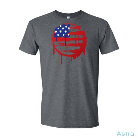 Painted Flag Mens Soft-Style T-Shirt Apparel Apparel Black Clothing Dark-Heather T-Shirt $19.95 Astraest.com: Astraest