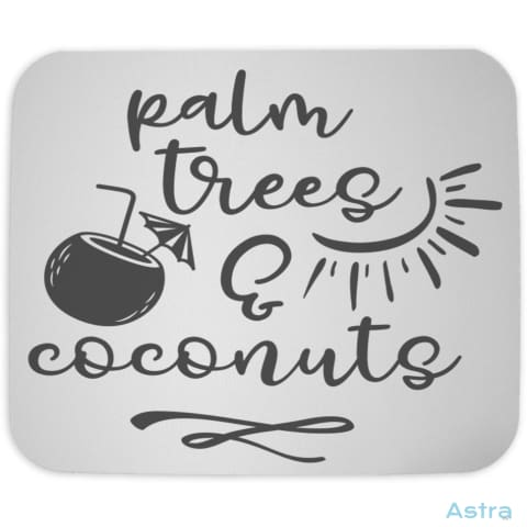 Palm Trees And Coconuts Mouse Pad Home Decor 10-20 Cloth Comic Homedecor Household $10.95 Astraest.com: Astraest