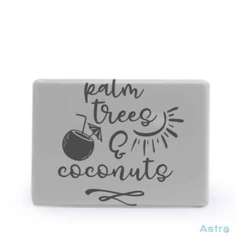 Palm Trees And Coconuts Rectangle Plastic Fridge Magnet Home Decor Comic Homedecor Household-1 Magnet Magnets $7.95 Astraest.com: Astraest