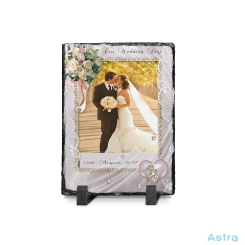 Portrait Wedding Frame Rectangle Photo Slate Custom Home Decor Blank Custom_Home Design-Your-Own-1 Dyoh Photo-Slate $16.95 Astraest.com: